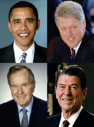 Three or four of the last five US Presidents have been left-handed